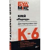 Клей для мармурових плит Буд Мікс К-6 Мармур Білий,  25 кг