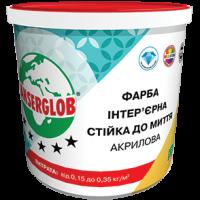 Фарба  акрилова ANSERGLOB стійка до миття, 7кг
