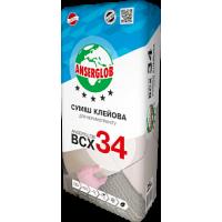 Клей для керамограніту ANSERGLOB BCХ 34, 25кг