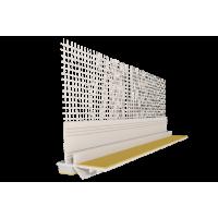 Профіль привіконний 6мм білий з самоклеючої сіткою та стрічкою 10мм 2,5м
