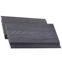 Дошка фасадна BRUGGAN ELEGANT 3D PRO GRAPHITE 140*17*2900, м2
