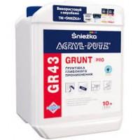 Грунтівка Sniezka Acryl-putz 10 л GR43 GRUNT PRO глибокого проникнення,  10л