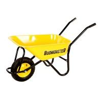 BudMonster будівельна 1-колісна, куз.жовт 80л, рама чорн., в/п-200кг, колесо пневмо 4х8
