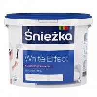 Фарба  матова акрилова Снежка WHITE EFFECT, 14кг