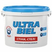 Фарба водоемульсійна акрило-вінілова Снежка Ультра-Бель, 4,2кг (Україна)