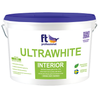 Фарба  латексна для стін та стель ULTRAWHITE INTERIOR, 3л